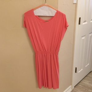 Coral Piko Dress with Pockets